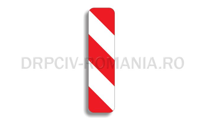 DRPCIV - Baliză direcţională care indică ocolirea obstacolului prin dreapta