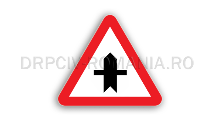 DRPCIV - Intersecţie cu un drum fără prioritate