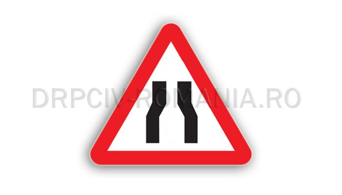 DRPCIV - Drum îngustat pe ambele părţi