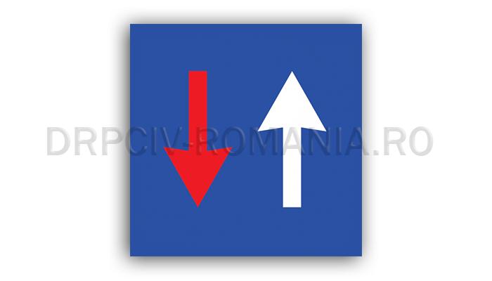 DRPCIV - Prioritate faţă de circulaţia din sens invers