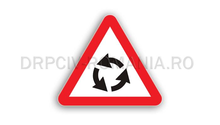 DRPCIV - Presemnalizare intersecţie cu sens giratoriu