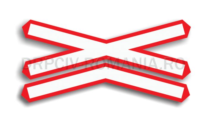 DRPCIV - Trecere la nivel cu o cale ferată dublă, fără bariere