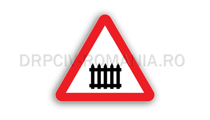 DRPCIV - Trecere la nivel cu o cale ferată cu bariere sau semibariere